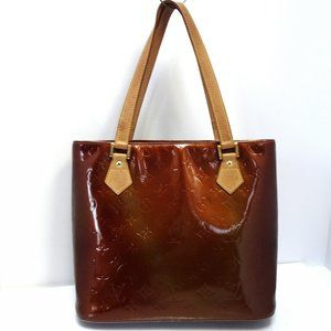 Auth LOUIS VUITTON Houston Bronze Tote Shoulder Ba